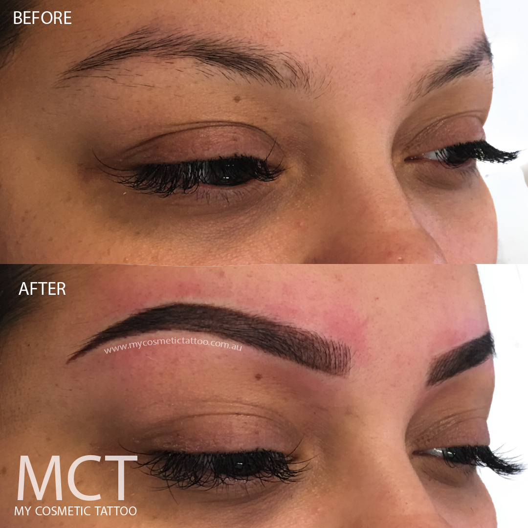 Hybrid Eyebrow Tattoo Before & After - My Cosmetic Tattoo